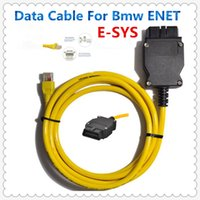 Wholesale 2015 ESYS V50 Data Cable For bmw ENET Ethernet to OBD OBDII Interface Data E SYS ICOM Coding for F serie Free Ship