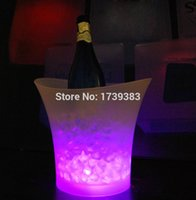 beer pot - Litre waterproof plastic LED Ice Bucket color changing L bars nightclubs LED light up Champagne beer bucket