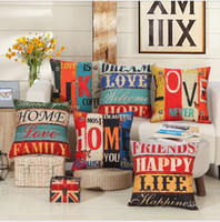 Wholesale New Arrival Home Decorative Sofa Cushion Throw Pillowcases quot Vintage Cotton Linen Square Pillow