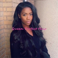 Wholesale Top Quality Long Silky Straight Heat Resistant Wig Natural Hairline Synthetic Full Lace Front With Baby Hair Bleached Knots For Black Women