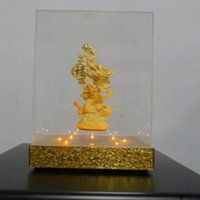 Wholesale 1 dhl free magnetic levitation k gold buddha display racks magnetic craft religion display stands