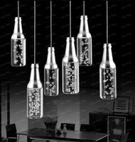 Wholesale 5W LED acrylic Pendant Lamps Hotel bar counter KTV pendant light Restaurant chandelier Bottle droplight Bubble pendant Lamp light LLFA665