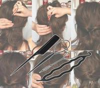 Pelo de la torcedura que labra el clip del palillo del fabricante del bollo de la trenza de Herramientas 4 piezas / Set de Susan accesorios del pelo calientes de las mujeres de señora Girls