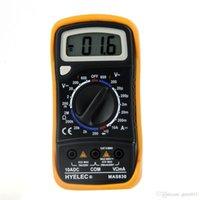 Wholesale Professional Multifunction Mini Digital Multimeter Buzzer LCR Meter Ammeter Multitester HYELEC MAS830 Multimetro