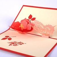 Wholesale 20 pieces Butterfly Flower Valentine s Day Greeting Card Support Mixed Batch Multipurpose Blessing Cards
