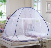 Wholesale Mosquito nets yurt free installation student bottomed bottomless folding door Single and Double Magic nets