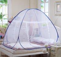bi folding doors - Mosquito nets yurt free installation student bottomed bottomless folding door Single and Double Magic nets