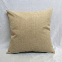 Wholesale Blank Cushion Cover New Arrival Cushions Cases for DIY cm and cm Linen Cotton Zippered Throw Pillow Case with No Design