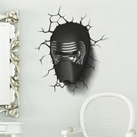 Wholesale star war Awakens Dark Knight helmet handsome popular wall stickers home decal boys bedroom decor poster for kids room
