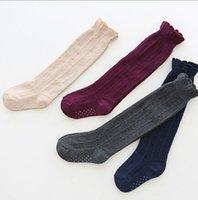 al por mayor coreano de la manera del estilo de los niños-Calcetines de los niños calcetines de los niños de los calcetines de la colmena de los niños de los calcetines todo el fósforo Calcetines altos de los calcetines de la rodilla de la manera del estilo de los calcetines coreanos A8411