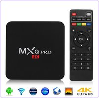 air h - MXQ PRO Quad Core Android TV Box Amlogic S905 Android With Customized KODI Fully Loaded K H Smart TV Player Air Play Miracast