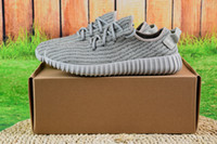 Cheap [with Box] Wholesale 2016 Kanye West Yeezy Boost 350 Pirate Black Low Sports Running Shoes Women and Men Sneakers Training Boots Eur36-46