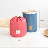 antique makeup - HOT travel bag Cosmetic Bag Women makeup organizer bag Pouch Make up Handbag Toiletry Antique storage bag Case Cylindrical