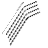 Wholesale 20oz Stainless Steel Straws Metal Drinking Straw Cleaning Brush Set in Retail Packing Per Set Fits Yeti Tumbler Rambler Cups