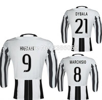 Wholesale 3 A A A quality Thai shirt shirt season adult long sleeved shirts Juventus adult