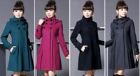 Wholesale Autumn and Winter Coat Wool Double Breasted Outerwear Wool Coat Women Medium Long Coat Wool Coa WT41