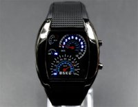 aviation led - LED Watch Dashboard Aviation Sector Men Sport Fashion Wristwatches For Like Auto Meter Silicone Battery Glass Watch