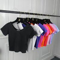 bearing baring - 2016 new Korean Navel baring Shorts Slim Midriff bearing Women T shirt Cotton Bottoming Shirt All Match Hot Selling