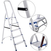 Wholesale Foldable Step Ladder Non slip lbs Capacity Platform Aluminum New