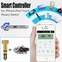 Wholesale IR Universal Smart Remote Controller for iPhone iOS Smart Phone mm Headset Dust Plug Smart Control for Air Conditioner TV DVD