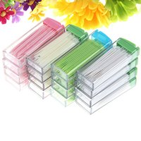 Wholesale Fashion Portable Plastic Toothpick Pack Boxed Green No Smell Oral Dental Picks