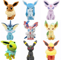 Wholesale Poke Toys cm Poke Center Plush Toys Pikachu Dolls Jolteon Umbreon Flareon Eevee Espeon Vaporeon Poke Mon Stuffed cartoon Toys