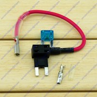 Wholesale 15A Mini Blade Fuse Tap Holder Add A Circuit Line ATM APM Car Truck Motorcycle