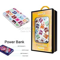 Wholesale EXQUIS Cartoon Power Bank mAh Portable Charger Dual USB External Battery PowerBank for iphone s Samsung S7 S6 NOTE