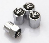 Wholesale 4pcs MINI Metal Hub Tire valve caps Wheel Air Dust Cap Caps Car Badges