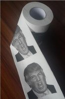 Wholesale Novelty Funny Toilet Paper Gag Gift Carbonate Mud Mask Hillary Clinton Donald Trump Toilet Paper
