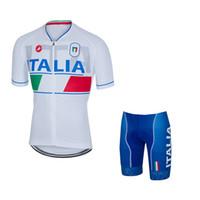 Wholesale Italia Short Sleeves Cycling Jerseys With Pad Gel Bib None Bib Pants Bike Wear Size XS XL For Men Women Bicycle Clothing