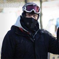Wholesale 20 Thermal Neck warmers Fleece Hat Headgear Winter Skiing Ear Windproof Warm Face Mask Motorcycle Bicycle Scarf