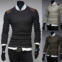 apparel pattern - 2015 Apparel Men s Pullover Cotton Sweater Pullovers Designer Mens Sweaters Crochet Patterns Men Sweaters