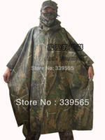 Wholesale Camouflage Realtree Raincoat poncho Ghillie Waterproof Tent Mat for Hunting Camping Hiking
