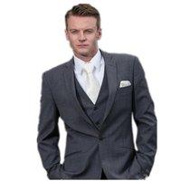 affordable suits for men - 2016 Custom Made Hottest Custom Made Piece Grey Exquisite Best Affordable Suits For Men Latest Jacket Pants vest tie
