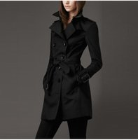 designer coats - HOT SALES CLASSIC WOMEN FASHION ENGLAND MIDDLE LONG TRENCH COAT BRAND DESIGNER DOUBLE BREASTED PATTERN LINNING TRENCH F260A3147 S XXL