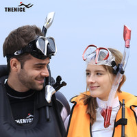 Wholesale THENICE Professional snorkel mask Swimming Diving regulator Protective Goggle Breathing Tube Snorkeling goggles scuba mask Set S022