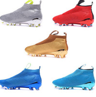 ace massage - 2016 new arrival no lace soccer shoes Ace purecontrol soccer boots Pure Control Soccer Cleats Original Quality Football Shoes