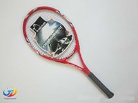 Wholesale 2016 Tennis Racket Racquet Racquets raquete de tennis Carbon Fiber Top Material tennis string