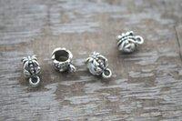 bead hole sizes - 50pcs Silver Tibetan Bail Bead Fit European Charm Bracelet Jewelry x6mm hole size mm