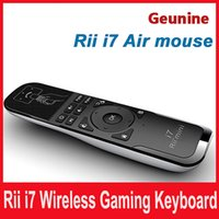 Wholesale Mini Air Mouse and Wireless Keyboard Combo Rii Mini i7 G Air Mouse Keyboard Remote for HTPC Android TV Box PC Laptop