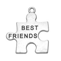 best autism - Tibetan Silver and K Gold Plated Best Friend Puzzle Piece Jigsaw Charms Autism Awareness Pendant