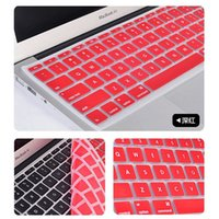 Wholesale Laptop Soft Silicone Colorful KeyBoard Case Protector Cover Skin For MacBook Pro Air Retina Waterproof Dustproof with DHL