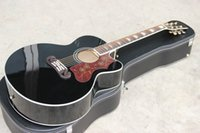 Wholesale Handmade OEM custom inch Jumbo Black color acoustic guitar China made guitars