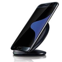 Wholesale 100 Original Quality Stand Quick Fast Qi Wireless Charger Charging Pad for Samsung Galaxy S6 edge plus S7 S7 Edge Note