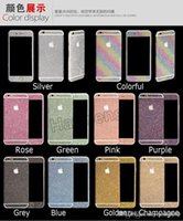 Wholesale Bling Diamond Glitter Sticker Shiny Front Back Side Stickers For iPhone s s plus Galaxy S4 S5 S6 S7 edge