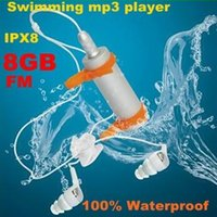 armband radio - 2016 Diving Waterproof Swimming MP3 Player FM Raido Level IPX8 Underwater Sports MP3 Real GB with Earphone Armband in stock
