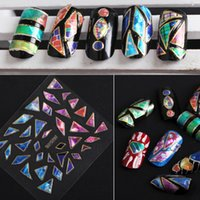 Wholesale The latest version of the south Korean irregular glass aurora D nail stickers