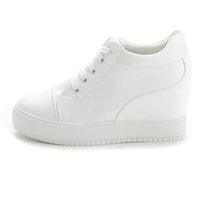 PP FASHION Western Style Womens Platform Plateaux formels Chaussures de sport Hidden Heel Lace Up Casual Sneakers