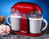 Wholesale Nostalgia Electrics DIC200 Mini Ice Cream machine for home use Mini ice cream maker new machine red machine
